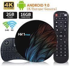 HFJ&YIE&H Android 9.0 Smart TV Box Quad Core 2.4G / 5G WiFi BT 4.0 DDR3  Netflix 4K HDR Media Player VS X96 HK1 MAX Mini Set Top Box 64-bit with  Wireless Keyboard: