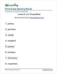 Third Grade Spelling Words   K5 Learning