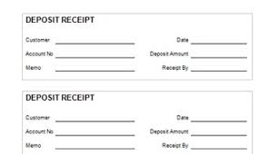 Deposit Receipt Sample Bank Deposit Receipt