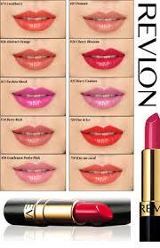 Revlon Super Lustrous Lipstick Colour Chart Revlon Super Lustrous Lipstick Lips Makeup Cosmetics