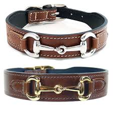 gucci poochie italian leather dog collar rich brown hartman and rose collars and leashes