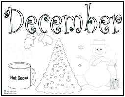 December Coloring Pages For Preschool Coloring Page Coloring Page
