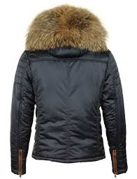 versano men s winter jacket with fur collar roger blue versano