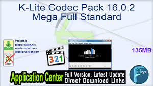 Ace mega codecs pack 6.03. K Lite Codec Pack 16 0 2 Mega Full Standard