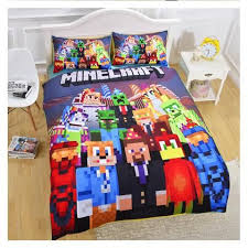 bed sheets for kids. Minecraft Creeper #03 Cool Kids Bedding Bed Set (Duvet Cover/ Pillow Case) Sheets For