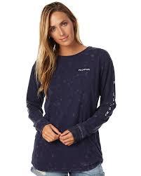 peacoat womens clothing billabong tees 6576076pec
