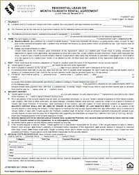 Generic Residential Lease Agreement Unique Free Lease Agreement California Potteritusnet
