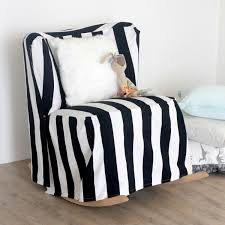 easy diy striped chair slipcover