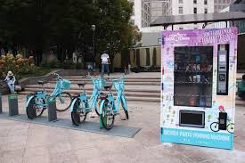 Solar Powered Vending Machine Interesting Bike Accessory Vending Machine Provides Parts Sunscreen To City