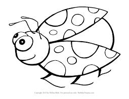 Lady Bug Coloring Sheet Bug Coloring Pages For Preschoolers Axialsheet Co