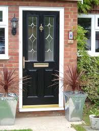 black posite door