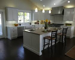 Pictures Of Kitchens With White Cabinets And Dark Floors white