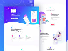 App Design Dribble Application Landing Page By Mahfuz Riad On Dribbble