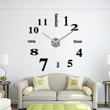 creative diy 3d sticker wall clock large size acrylic wall clocks fine arts random color 0201001 nz 2019 from byrd nz 12 07 dhgate nz