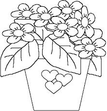 Disegno Vaso Di Fiori Per La Festa Della Mamma Da Colorare Disegni