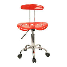flash furniture flash furniture vibrant computer task chair seat in red and chrome office acrylic office chair