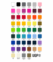 Ugp Screen Printing Print Color Chart All Colors And
