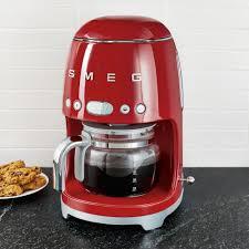 Prix régulier £179.00 prix réduit £175.00. Smeg Red Drip Coffeemaker Smeg Coffee Maker Machine Red Coffee Maker