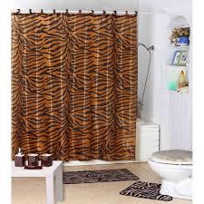 Interior Decorating Home Shower Curtain Zebra Rings