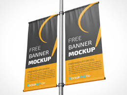 3 free mall indoor banner mockups. Banner Psd Mockups