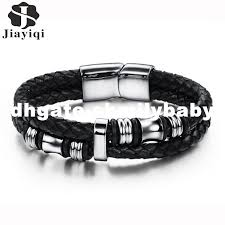 how to make leather wrap bracelet with charms inspirational dhgate fashion stainless steel bracelet men braid