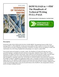 Download In Pdf The Handbook Of Technical Writing Full Page
