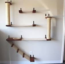wall mounted cat furniture. The Roman Cat Fort - Hammock And Climbing Activity Center Handcrafted Wall-mounted Wall Mounted Furniture