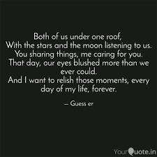 Listening Quotes Gorgeous Both Of Us Under One Roof Quotes Writings By Sricharan R