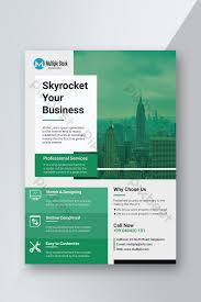 Corporate Green Flyer Template Psd Free Download Pikbest