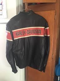 mens harley davidson victory lane 1 leather motorcycle jacket size medium