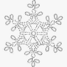 Crochet Snowflake Pattern Chart Christmas Crochet Snowflake Ornament Chart Crochet