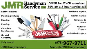 jmr handyamn service llc phone number 978 967 9711