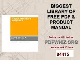 halla forklift manuals youtube Clark Forklift Wiring Diagram halla forklift manuals