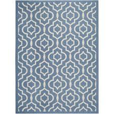 safavieh courtyard blue indoor outdoor rug 6 7