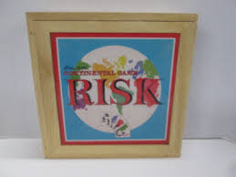 Risk Board Game Wooden Box New Parker Brothers Nostalgia Game Series Risk Continental Board Game