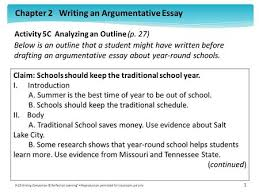 counterclaims rebuttals ppt  activity 5c analyzing an outline p 27