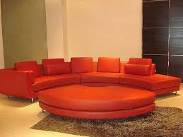 roller espresso leather sectional round
