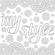 Decoratieve Tekening Met Tekst My Style Geïsoleerd Op Witte