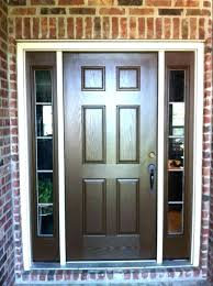 fiberglass entry door with single sidelight front