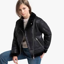 <b>Куртка</b>-пилот <b>утепленная</b>, 10-18 лет черный <b>La Redoute</b> ...