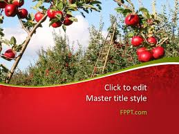 Tree Powerpoint Template Free Apples Tree Powerpoint Template Free Powerpoint Templates