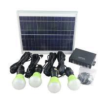 Portable Solar Power Kit Mini Project Solar Home Lighting System
