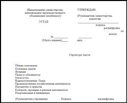 Контрольная работа Организационно правовые документы ru Типовая структура текста устава государственного учреждения