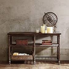 industrial rustic design furniture. Industrial Rustic 54 Inch Sofa Console Table With Spacious Shelves In  Coffee Brown Finish - Includes Industrial Rustic Design Furniture T