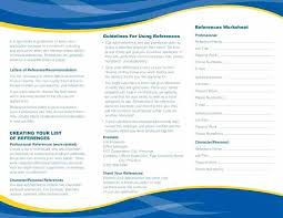Free Reference Page Template Appropriate Personal References