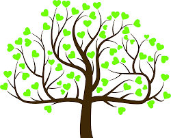 """Love Grows Heart Tree Family Nature Tall Cartoon Vinyl Sticker (4"""" Wide,  Green with Branches Sparse): Amazon.in: Car & Motorbike"""