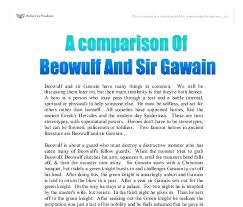 a comparison of beowulf and sir gawain a level english marked  document image preview