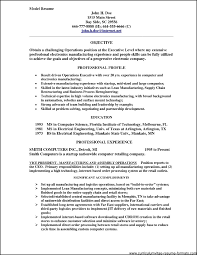 Model Resume Examples 64 Images Choosing The Right Sample