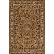 persian classics kashan gold 4 ft x 6 ft area rug