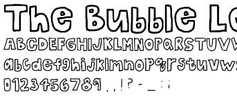 Bubble Letters Font The Bubble Letters Font Fancy Cartoon Pickafont Com